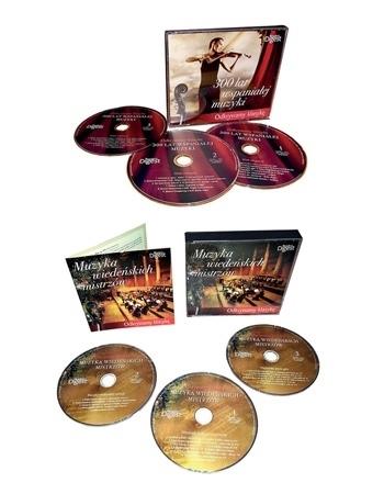 """Muzyczne arcydzieła 6 CD: """"300 lat wspaniałej muzyki"""" oraz """"Muzyka wiedeńskich mistrzów"""""""