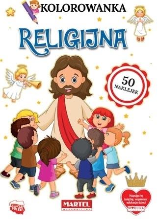 Kolorowanka religijna z naklejkami : Dla dzieci