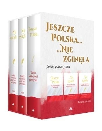 Jeszcze Polska nie zginęła. Poezja patriotyczna - Justyna Chłap-Nowak : Komplet 3 książek w etui