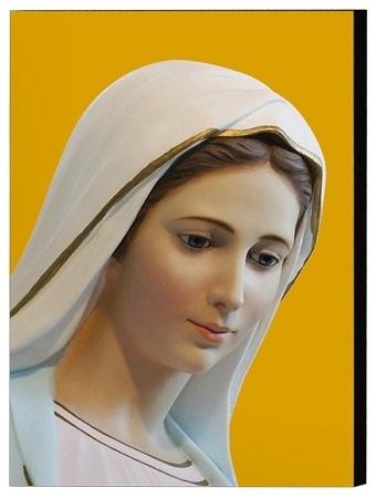 Matka Boża z Medjugorie - obraz na desce,  30 x 42 cm (format A3)