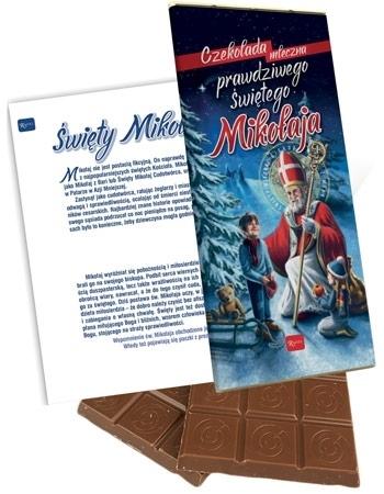 Czekolada mleczna prawdziwego Świętego Mikołaja