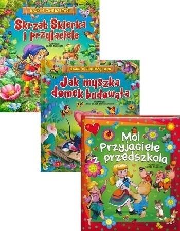 Upominkowy pakiet dla najmłodszych - Skrzat Skierka i przyjaciele, Jak myszka domek budowała, Moi przyjaciele z przedszkola