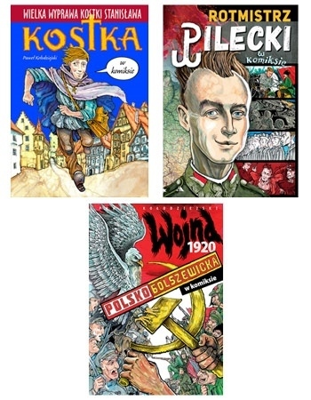 Zestaw komiksów historycznych : Dla dzieci