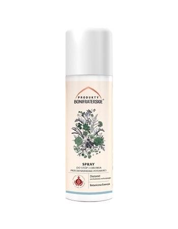 Spray do stóp i obuwia przeciw nadmiernej potliwości. Kosmetyk, 150 ml