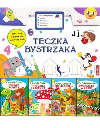 """Teczka bystrzaka """"Zestaw łamigłówek"""" : Dla dzieci"""