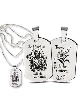 """Medalik """"Nieśmiertelnik"""". Świętego Józefa"""