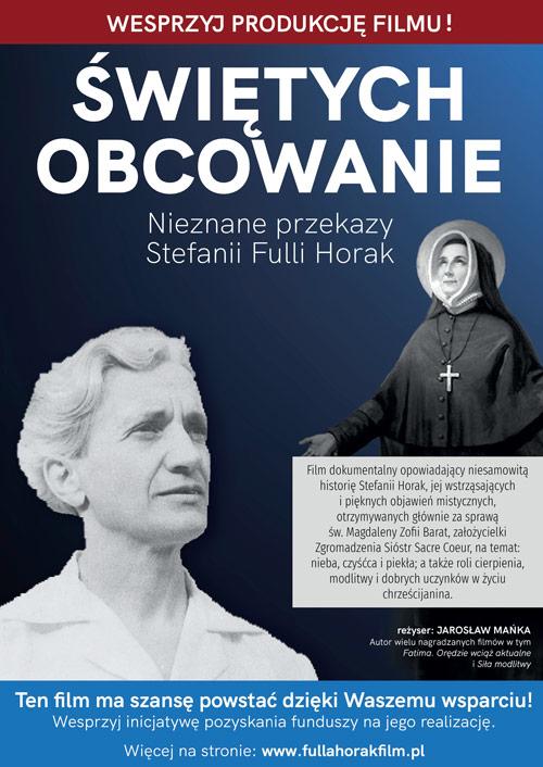 Świętych obcowanie - film dokumentalny o Fulli Horak - plakat