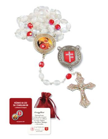 Różaniec ku czci św. Stanisława BM z relikwiami III stopnia