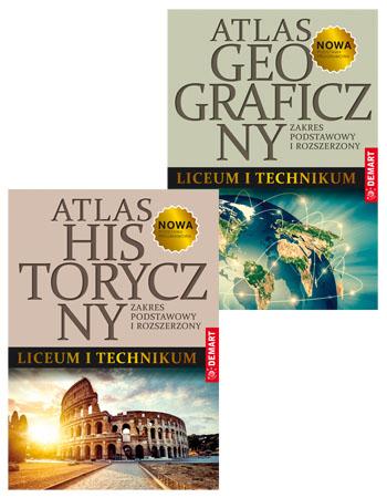 Atlas historyczny + Atlas geograficzny do liceum i technikum. Pakiet edukacyjny
