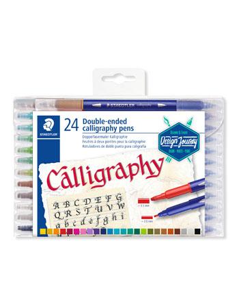 Pisaki artystyczne do kaligrafii. 24 kolory