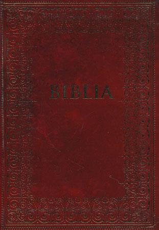 Biblia podróżna - okładka bordowa