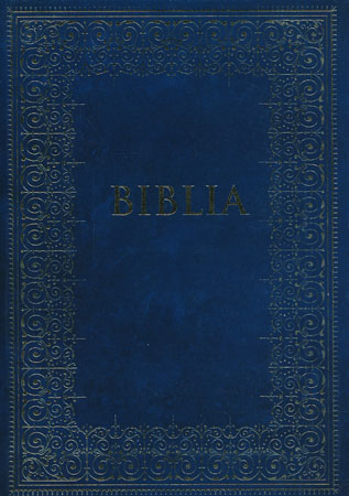 biblia podróżna - okładka granatowa