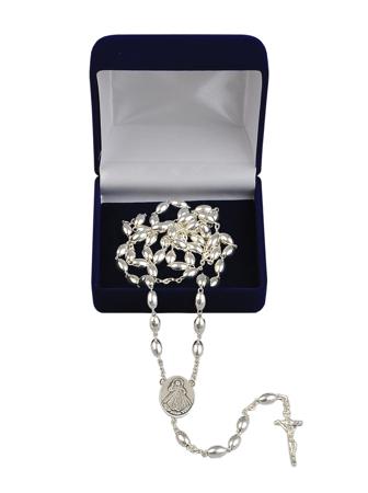Różaniec srebrny z grawerunkiem: Pamiątka od Babci i Dziadka
