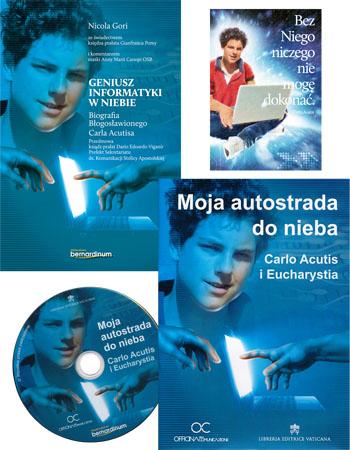 Geniusz informatyki w niebie + Moja autostrada do nieba, film DVD + obrazek z modlitwą do bł. Carla Acutisa