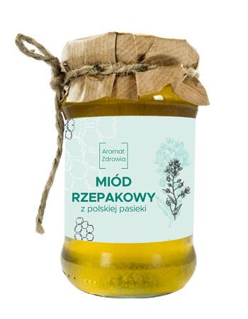 Miód rzepakowy z polskiej pasieki, 400 g