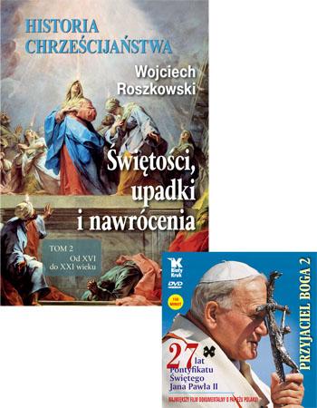 Historia chrześcijaństwa. Świętości, upadki i nawrócenia. Tom 2 + film DVD gratis - Wojciech Roszkowski