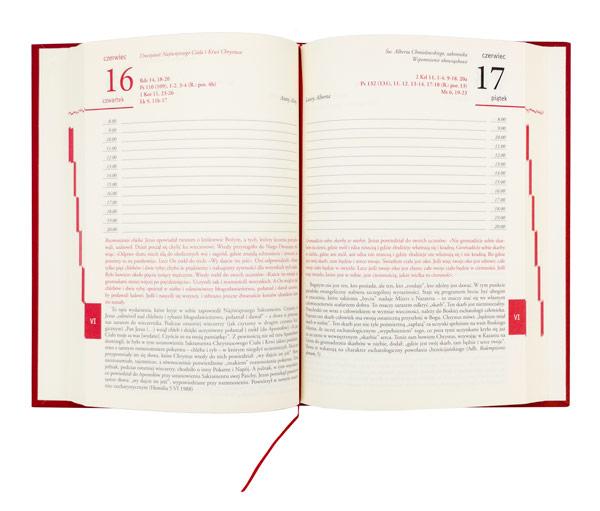 AD 2022 ze świętym papieżem Janem Pawłem II. Terminarz i agenda biblijna - zawartość