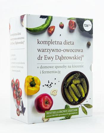 Kompletna dieta warzywno-owocowa dr Ewy Dąbrowskiej® + Domowe sposoby na kiszenie i fermentację. Komplet 4 książek
