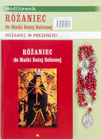Różaniec do Matki Bożej Bolesnej. Modlitewnik z czerwonym różańcem w prezencie